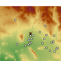 Nearby Forecast Locations - Sun City West - карта