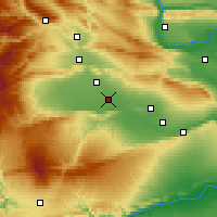 Nearby Forecast Locations - Toppenish - карта