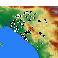 Nearby Forecast Locations - Trabuco Canyon - карта