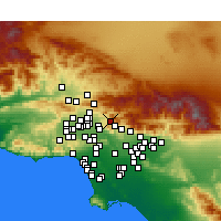 Nearby Forecast Locations - Sunland-Tujunga - карта