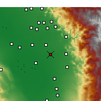 Nearby Forecast Locations - Tulare - карта