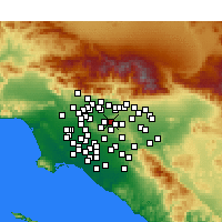 Nearby Forecast Locations - West Covina - карта