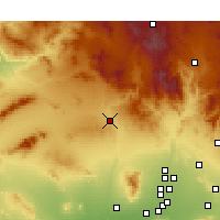 Nearby Forecast Locations - Wickenburg - карта