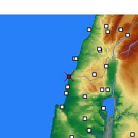 Nearby Forecast Locations - Naqoura - карта