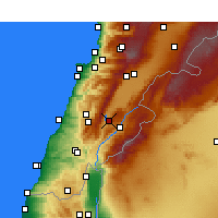 Nearby Forecast Locations - Qaraoun - карта