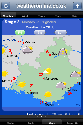 weather tour de France